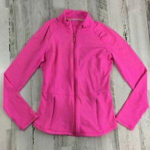 Lilly Pulitzer Luxletic Weekender Jacket Pink Full Zip Womens Sz M