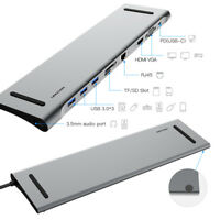Docking Station USB-C All-in-One con porte HDMI VGA Lan 3x Usb 3.0 Card Reader
