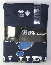 St. Louis Blues Men's 3XL 48-50 NHL Duo Shirt + Pants Pajama Sleepwear Set NEW
