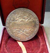 Société d'Encouragement au Progrès par Bottée bronze argenté + boite d origine