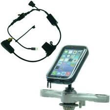DIN Powered Stem Bike Mount for Honda Blackbird/Kawasaki fits iPhone 13 PRO