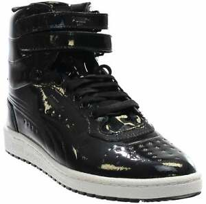 Puma Sky Ii High Patent Emboss Lace Up  Mens  Sneakers Shoes Casual   - Black -