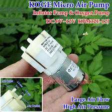 DC 6V-12V Large Flow Mini Air Pump Oxygen Pump Inflator Pump Aquarium Fish Tank