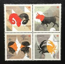 Canada #2445a-2445d MNH, Signs of the Zodiac Block of Stamps 2011