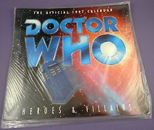 Doctor Who Heroes & Villains Official 1997 Calendar - Unused Shop Stock