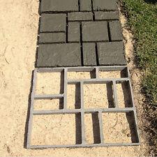 40x40cm Black Driveway Paving Pavement Stone Mold Concrete Pathmate Mould Paver