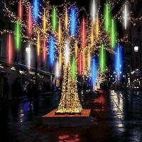 50CM LED Christmas Lights Meteor Shower Rain 8 Tube Snowfall Tree Outdoor Decor
