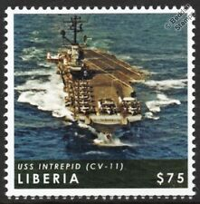 USS INTREPID (CV-11) Fighting I Essex-Class WWII Aircraft Carrier Warship Stamp
