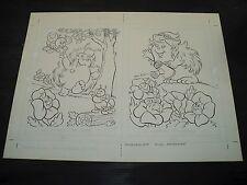 Snugglebumm Coloring Book Original Artwork RARE! Stan Goldberg! ART#0557