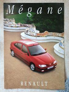 Brochure Depliant Renault Megane 1995 Italiano 4 pagine