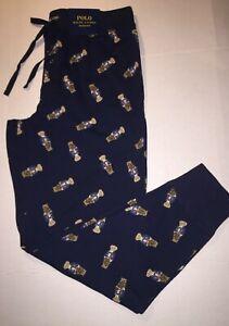 Polo Ralph Lauren Bear Print Knit Sleep Jogger Pants Men's Large