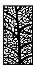 Decorative Garden Metal Fence Screen 'MYSTERIOUS TREE' 1800x900 Corten Steel