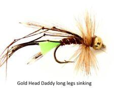 Trout Fly Fishing Flies Gold Head Daddy long legs sinking 123c! 10 12 Hook