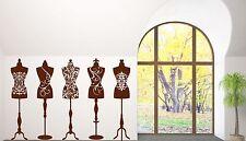 Vinyl Decal Wall Sticker Beauty Fashion Studio Dress Mannequins (n393)