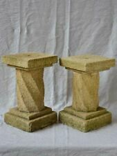 Pair of mid-century twisted column pedestals 16½""