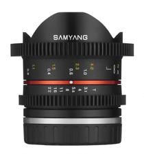 Samyang 8mm T3.1 Vídeo Umc Ojo de Pez II Objetivo - Fujifilm X Compatible AA0239