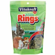 Vitakraft Crunchy NIBBLE RINGS for Hamsters,Guinea Pigs, Rabbits 11 oz