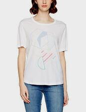 Bench mujer Gráfico Estampado Camiseta Camiseta en Blanco Reino Unido Tamaño Pequeño Nuevos