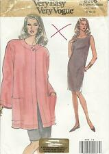 UNCUT UNUSED VOGUE SEWING PATTERN Womens DRESS & JACKET Bust 31-34 inch