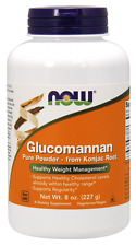NOW Foods 100% Pure Glucomannan Powder 8 oz Konjac Root 2g/Serving 09/2019 Fresh