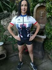 BNWT ~ Adidas Team Great Britain GB Rio Olympics Cycling Jersey Top Women Small