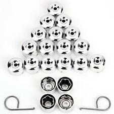 17mm CHROME Wheel Nut Covers with removal tool fits FIAT (VWC)