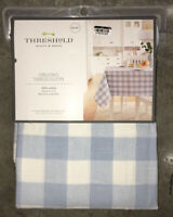 "Threshold Oblong Cotton Tablecloth 52""x70"" Blue & White Check"