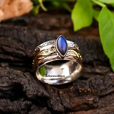 Labradorite Spinner Ring 925 Sterling Silver Ring Handmade Ring Size Q .Ms2229