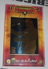 Hulk Hogan Signed 24k Gold WWE Authentic Images Danbury Mint Card PSA/DNA COA