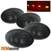 Fits 99-10 Ford F250 F350 F450 Superduty Smoked Dually Fender LED Marker Lights