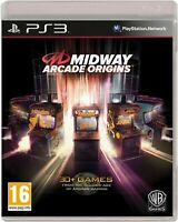Midway Arcade Origins PS3 PlayStation 3 Video Game Mint Condition UK Release