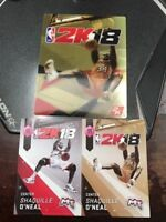 NBA 2K18 STICKERS AND MAGNET.  BRAND NEW SHAQ