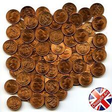 Set of (x100) 1967 British ELIZABETH II HALFPENNY Coins (UNCIRCULATED)