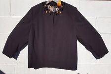 Maggie Barnes 3x 24/26 jacket NWT Black round neckline with some ornamentation