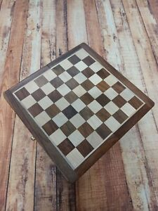 """WOODEN CHESS Magnetic Set 7"""" Inch Folding Wood Board."""