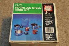 Primus Century2 Person Camp Cookset, Stainless Steel w/ Copper Bottom Model 3260