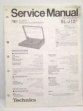 Technics Original Service Manual SL-J120 Turntable System