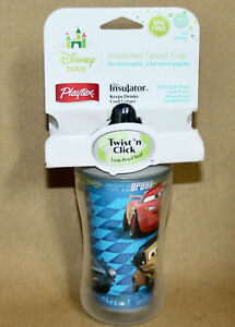 New PLAYTEX Disney Baby Insulated Spout Cup World Grand Prix