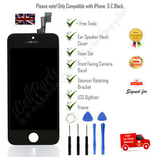 Apple iPhone 5C Black LCD OEM Screen and Digitizer Assembly With Frame + Tools