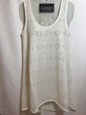 NWT Profile By Gottex Women's Size Medium White/Ivory Crochet Coverup Org $48