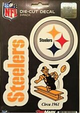 Pittsburgh Steelers Decals NFL ProMark Die-Cut Stickers 3 Pack