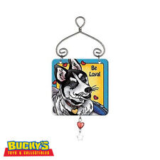 Joan Baker Siberian Husky Dog Gift Ornament Suncatcher Sign  Family Love Hearts