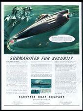 1945 streamlined future sub submarine Arthur Radebaugh art Elco vintage print ad