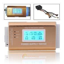 Digital LCD PC 20/24 Pin 4 PSU ATX BTX ITX SATA HDD Power Supply Tester Gold