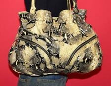 Angeleigh Anastassio Python Embossed Italian Leather Carryall Shoulder Purse Bag