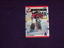 sean burke (new jersey devils-goalie) 1990/91 score card #34 nr/mint