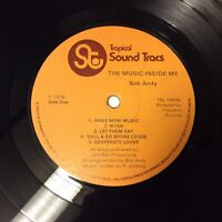 Bob Andy 'The Music Inside Me' Rare 1976 Reggae Vinyl LP TSL1003 VG+/VG+ Nice!!