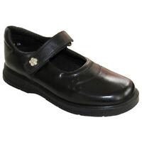 Hush Puppies Girls Kids SPARKLE Leather Mary Jane School Shoes Black UK 2.5