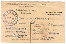 Kriegsgefangenen-Postkarte, Depot de P.G.A. CXI, Lamballe Nr. 1, 2.2.47
