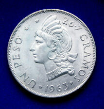 Dominican Republic Silver Peso 1963, Uncirculated.